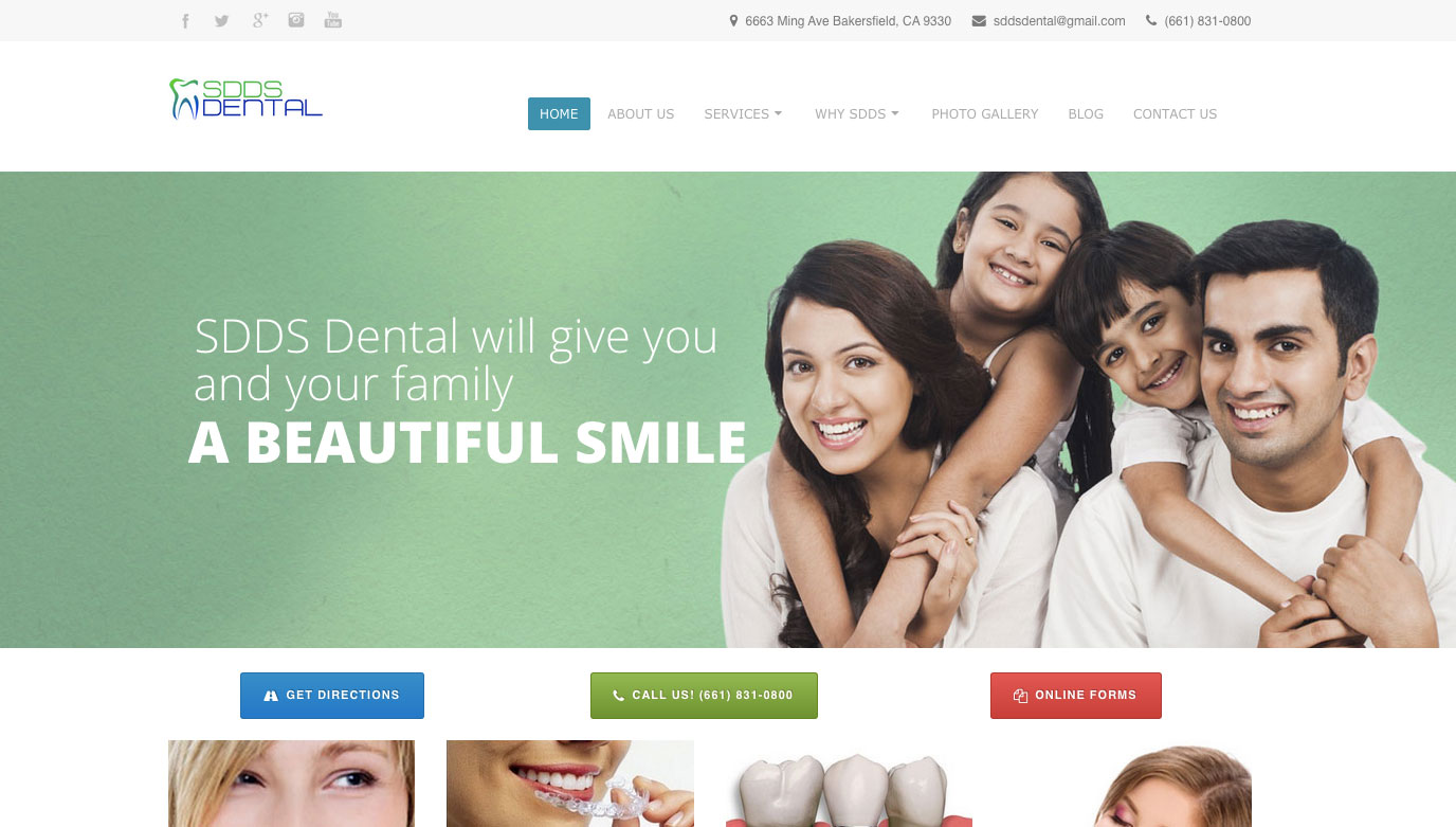 SDDS Dental Website
