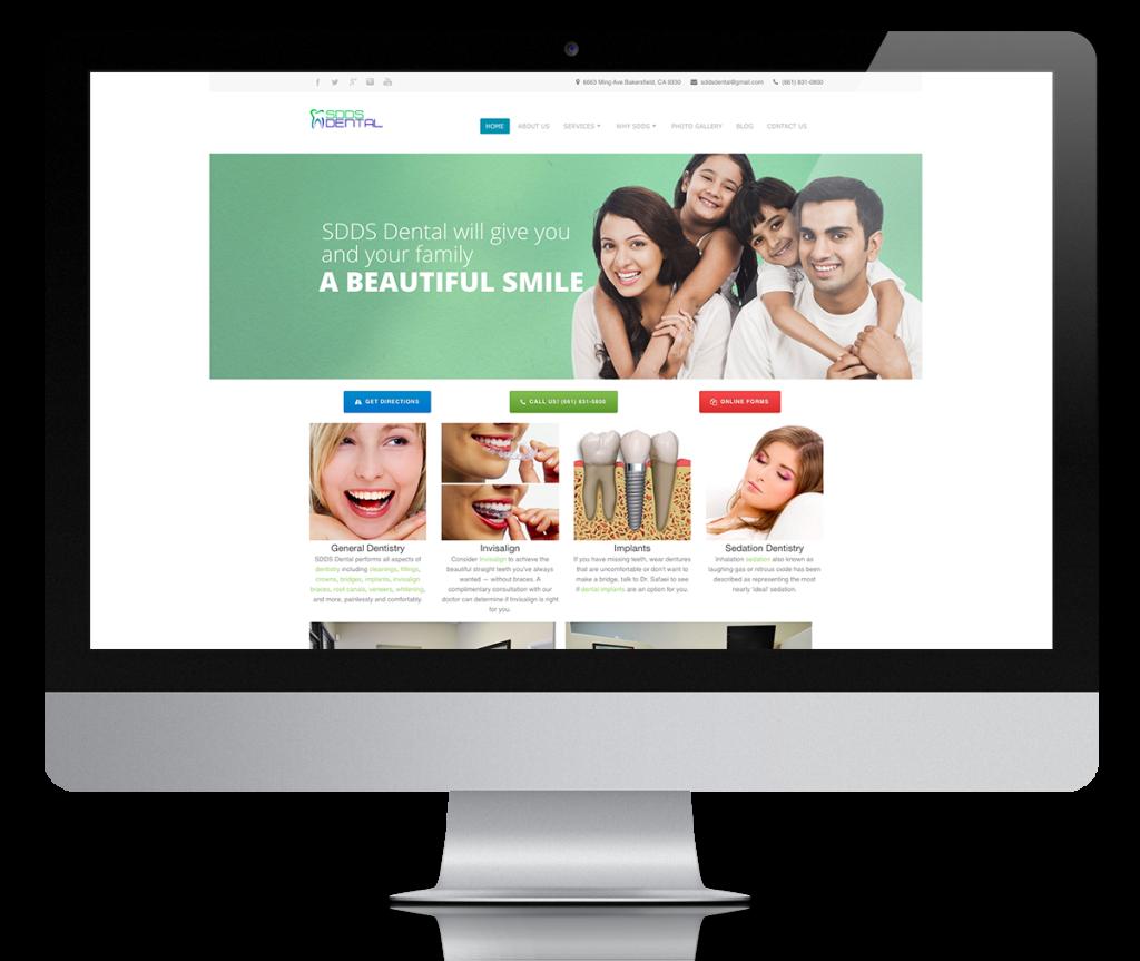 SDDS Dental Website Design